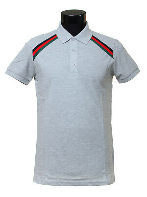 19f24da46 MEN GUCCI POLO SHIRT ; GRAY, NEW WITH TAGS, TRACK DELIVERY SIZE s ...