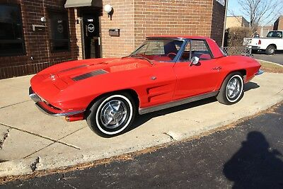1963 Chevrolet Corvette - PS / #'s Matching 1963 Chevrolet Corvette - PS / #'s Matching 327 1964 1965 1966 1967 Red/Red