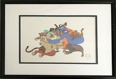 """Aladdin"" Serigraph cel entitled ""Group Hug"""