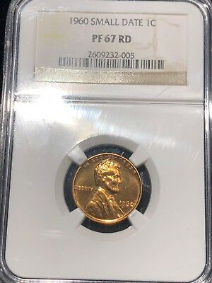 1960 SMALL DATE LINCOLN MEMORIAL CENT NGC PF 67RD Brilliant Gem Type