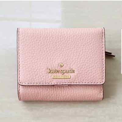 ad59c39a7fdf NWT KATE SPADE Jackson Street Jada Trifold Wallet Leather Rosy Cheeks New   98 -  62.00