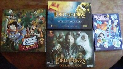 4 Board Games: Bravest Warriors, Lord of the Rings, Penny Arcade, Deckbuilders