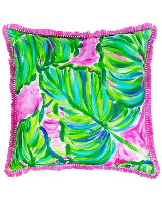 e7f0e1d983f28b Lilly Pulitzer Painted Palm Large Indoor/Outdoor Decorative Pillow 18 x 18  NWT