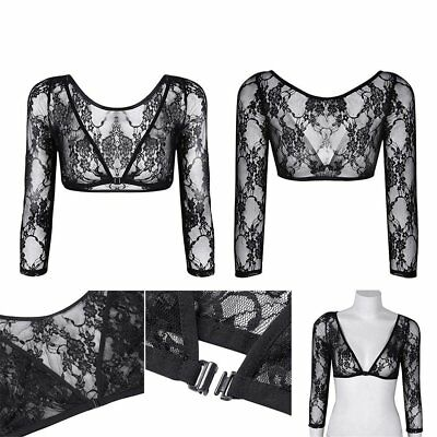 NEW Women Seamless Shoulder Arm Shaper Slimming Wrap Posture Lace Short Tops IW