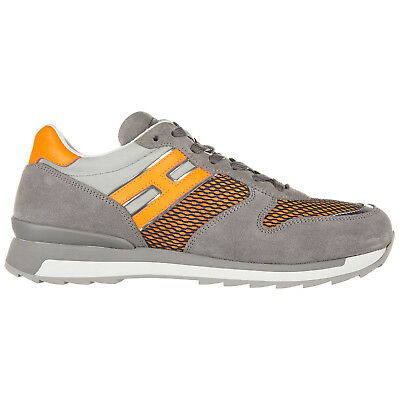 HOGAN REBEL MEN S Shoes Leather Trainers Sneakers New R261 Grey Cf4 ... 07e2ab15a44