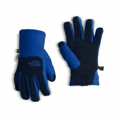 NEW The North Face Youth Denali ETIP Fleece Winter Ski Touch Gloves Blue Boys' L