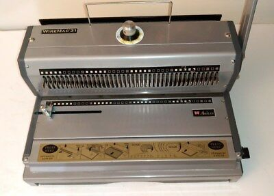 """Akiles WireMac 31 Wire Binding Machine & 14"""" Punch Open End 3:1 pitch   AWM-31"""