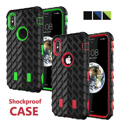 Case For iPhone XS Max XR 8 7 6s 6 Plus Armor Shockproof Heavy Duty Rubber Cover
