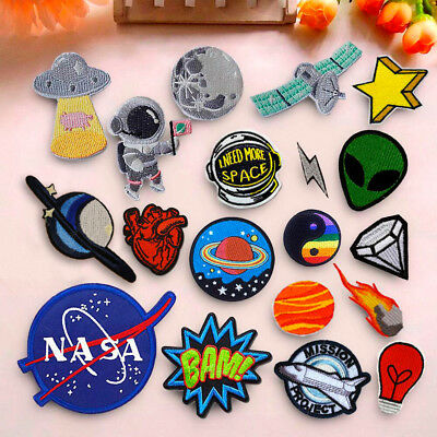 DIY Embroidered Iron On Sew On Patches Badge Hat Fabric Applique Clothes Craft