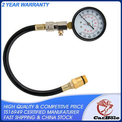 300 PSI Engine Cylinder Compression Pressure Meter Tester Gauge Test Flex Hose