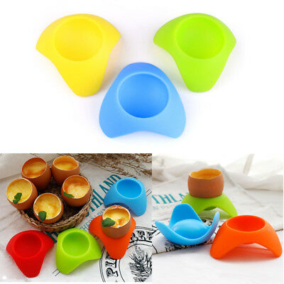 1PC Silicone Egg Cup Holder  Resting Frame Seat Colorful Boiled Egg Breakfast