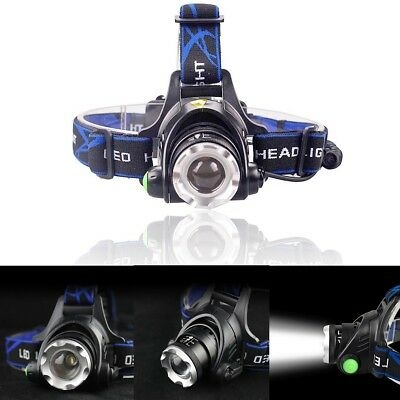 Ultrafire Tactical 50000LM Zoomable T6 LED Headlight Headlamp Torch & Charger