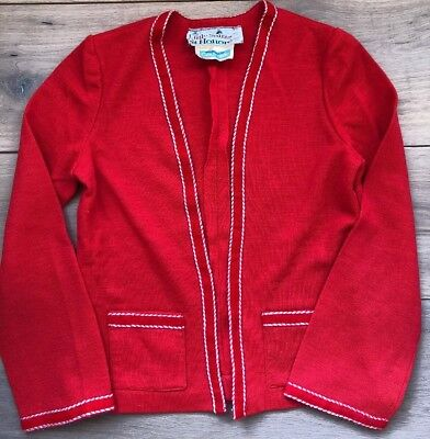Vintage 60's St Honore Courtaulds Made In England Red GIRLS Jacket EUC