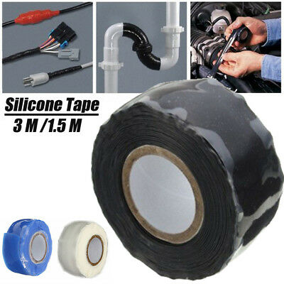 Silicone Repair Tape Waterproof Rescue Bonding Self-Fusing Seal Wire Hose GB