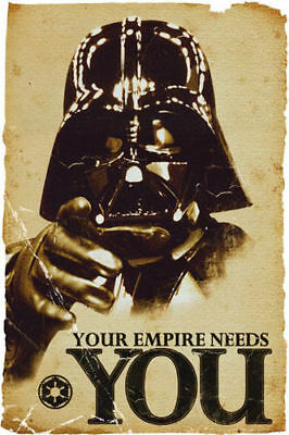 STAR WARS YOUR EMPIRE NEEDS YOU DARTH VADER Art Silk Poster 8x12 24x36 24x43