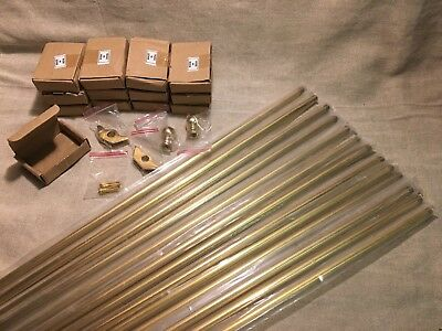 NEW Lot of 13 Solid Brass Stair Rods, Length 35 1/2""
