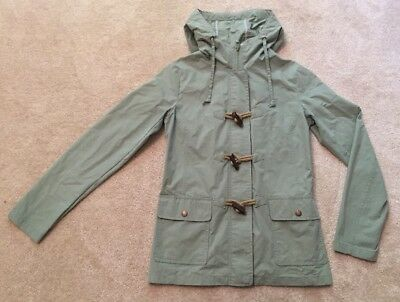 610fab7df FAT FACE MINT Green Raincoat Parka Jacket Size 8 Toggle Zip Hooded