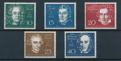 GERMANY, SC 804 a-e, 1959 German Composers issue. MNH. CV $15