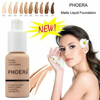 PHOERA Soft Matte Full Coverage Liquid Foundation Concealer Longlasting OD