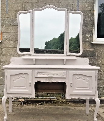 Shabby Chic Vintage French Painted Louis Style Antique Dressing Table