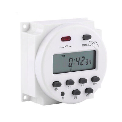 220V LCD Digital Weekly Programmable Timer 1 Channel 16A Switch