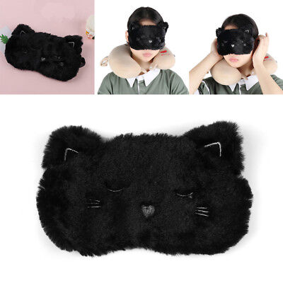 1PC Soft Cute Cat White Dog Eyemask Travel Goggles Shade Eye Mask Sleep Nouveau.