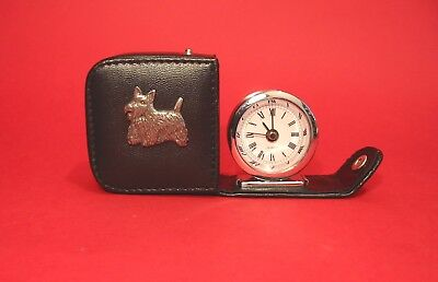 Scottish Terrier Pewter Motif Travel Alarm Clock Mother Father Christmas Gift