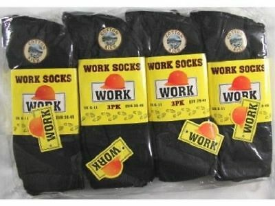 New 6 Pairs Mens Ultimate Work Boot Socks Size 6-11 Cushion Sole Reinforced Toe