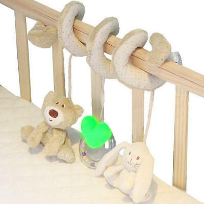 Kids Baby Crib Cot Pram Hanging Spiral Toys Soft Developmental Toy Gift