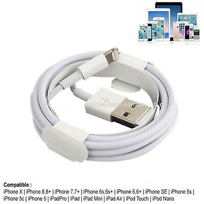8 Pin Lightning USB Data Sync & Charging Cable Cord For Apple iPhone X XS 8+ Lot