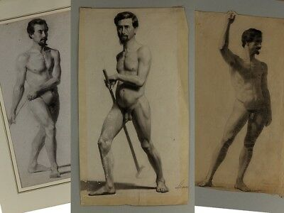 Gaspard Lamuniere Swiss Pencil Academic Life Drawings Nude