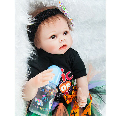 "Real Life Silicone 22"" Reborn Doll Toddler Girl Boy - Kids Sleeping Toy Gift"