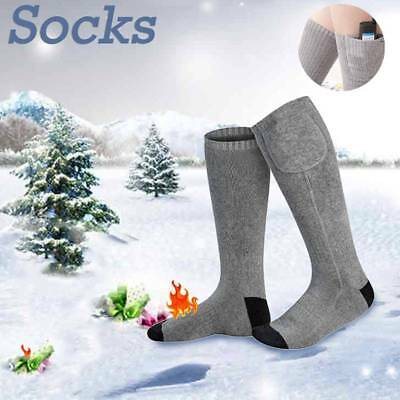 3.7V USB Rechargeable Battery Electric Heated Socks Boot Feet Warmer Winter
