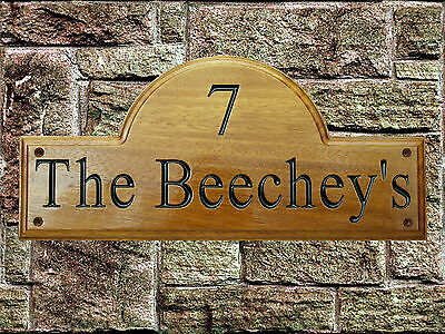 Personalised Wooden House Name Plaque/Signs Solid Hard Wood, Porch, Conservatory