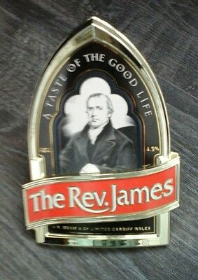 The Rev. James Real Ale Beer Pub Pump Clip Sign Man Cave Collectible P&p