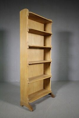 Tall Edwardian Antique Open Shelved Bookcase