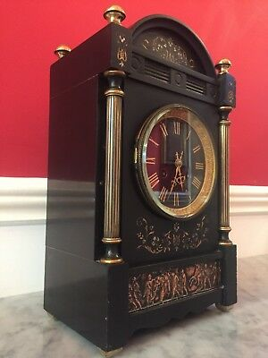 French Architectural Marble Mantle Clock