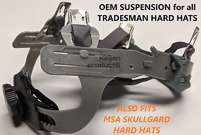 Oem Tradesman Forester Aluminum Hard Hat Ratchet Suspension Fits Msa Skullgard