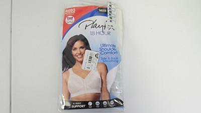 2823274328028 Playtex 18 Hour Ultimate Shoulder Comfort Side Back Smoothing  4693  Wirefree Bra