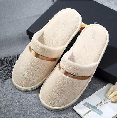 Womens Mens House Indoor Slippers Home Warm Cotton Shoes Sandals Soft Anti-Slip