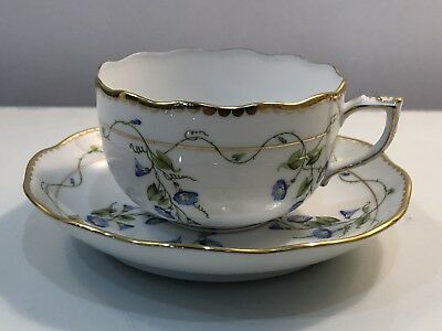 Herend  Nyon Morning Glory Tea Cup & Saucer #724 Best Price!