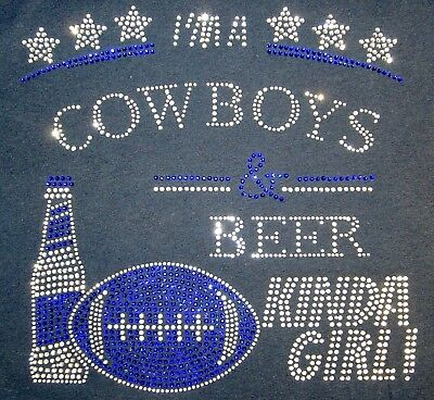 Dallas Cowboys Rhinestone Beer Kinda Girl T-shirt