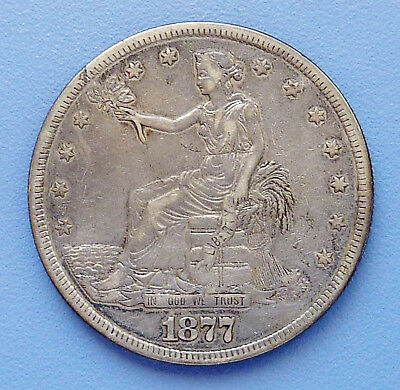1877-S U.s. Seated Liberty ~ Trade Dollar ~ Silver ~ Extra Fine Condition