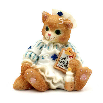 """Calico Kittens by Enesco """"Get Well Soon"""" Mini Figurine #167339 (NO BOX INCLUDED)"""