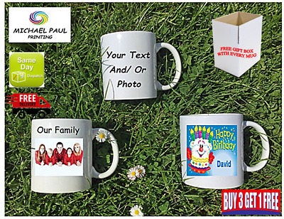 Personalised Mug Cup With Your Text Photo CHRISTMAS BIRTHDAY FRIEND Anniversary