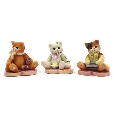"""Calico Kittens by Enesco """"Valentines Minis"""" 3 Assorted #155527"""