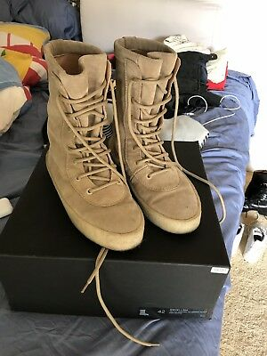 96278a2898f YEEZY SEASON 2 Crepe Suede 30MM Black Boots Size 35