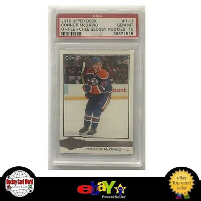 (HCW) 2015-16 Upper Deck O-Pee-Chee Glossy Connor McDavid PSA 10 RC Rookie -1815