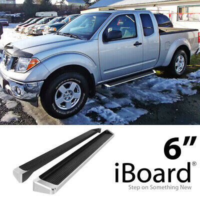 Running Board Side Step Nerf Bars 4in Silver Fit Toyota Tacoma Access Cab 05-19
