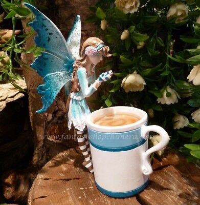 Amy Brown HOT COCOA FAERY Fairy Figurine in a Cup NEW IN BOX Pacific Giftware